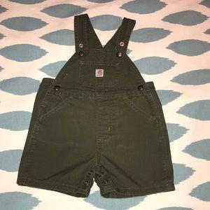 Baby Carhartt overall shorts